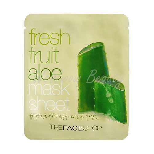 (Pre-order) the face shop fresh fruit aloe mask sheet แผ่นมาส์คหน้า ช่วยเพิ่มความชุ่มชื้นให้แก่ผิว