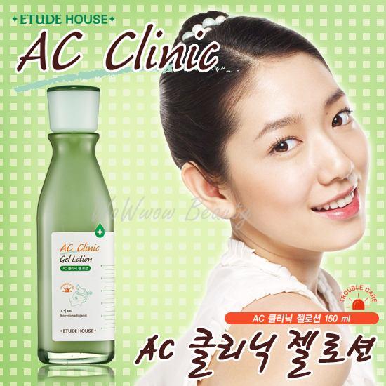(Pre-order) Etude House AC clinic gel lotion โลชั่นเนื้อเจล สูตรสำหรับผิวเป็นสิวโดยเฉพาะ