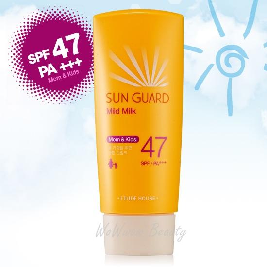 (Pre-order) Etude House Mild Milk Sun Guard spf47 PA+++ (Mom  Kids) 100 ml. ครีมกันแดดสูตรอ่อนโยน