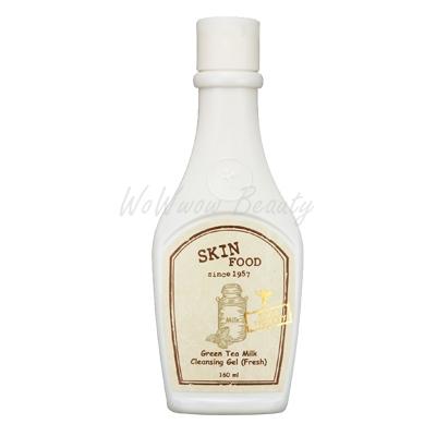 (Pre-order) Skinfood Green Tea Milk Cleansing Gel (Fresh) เจลทำความสะอาดคราบเครื่องสำอาง ผสมชาเขียว