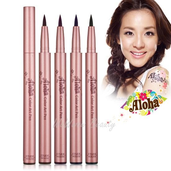 (Pre-order) Etude House Aloha Color art pen อายไลเนอร์หัวเมจิก ให้ดวงตาดูกลมโต มี 4 เฉดสีค่ะ