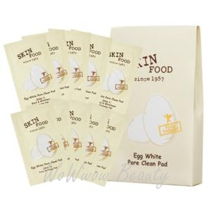 (Pre-order) Skinfood Egg White Pore Clean Pad แผ่นทำความสะอาดรูขุมขน ให้รูขุมขุนกระชับ ผิวเรียบเนียน