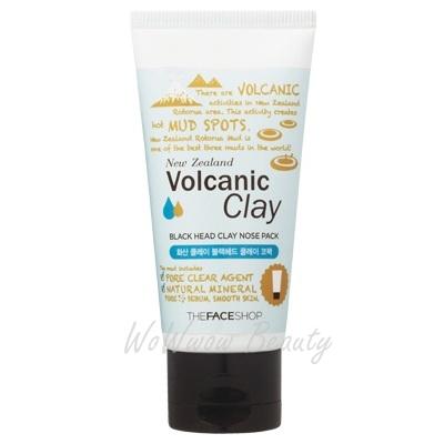 (เลิกผลิต)the face shop New Zealand Volcanic Clay Black Head Clay Nose Packมาส์คลอกสิวเสี้ยนตรงจมูก