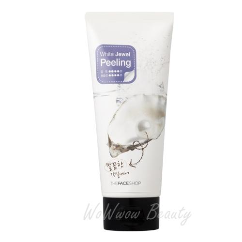 (Pre Order) the face shop White Jewel Peeling เจลขัดผิวหน้า ช่วยขจัดเซลล์ผิวเก่าเผยผิวขาวกระจ่างใส