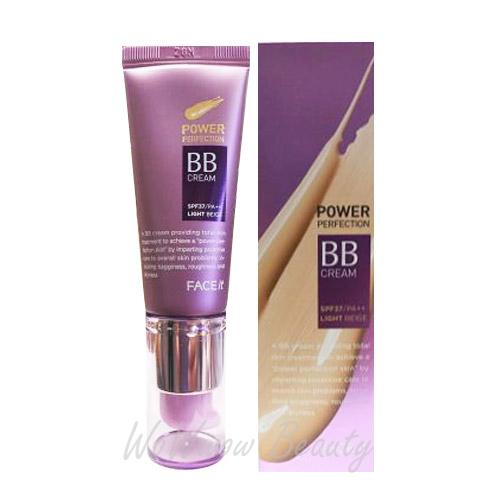 (Pre-order)the face shop Power Perfection BB Cream spf 37 pa++ บีบีครีมให้การปกปิดพร้อมควบคุมความมัน