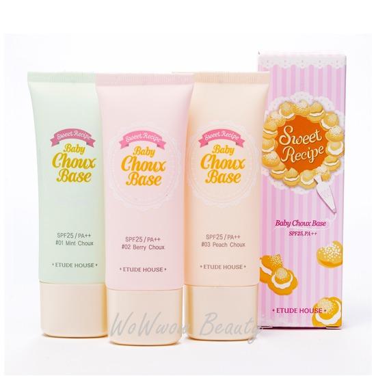 (Pre Order)Etude House Sweet Recipe Baby Choux Base SPF25 เบสเนื้อมูส ช่วยปรับสีผิวให้สม่ำเสมอ