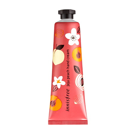 (Pre Order) Innisfree Jeju Peach Hand Cream 30 ml. ครีมทามือถนอมมือให้เนียนนุ่ม หอมกลิ่นพีช