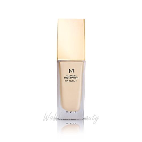 (Pre order) Missha M Radiance Foundation spf20 pa++ รองพื้นเน้นกระจายแสง ให้ผิวดูมีมิติ มีออร่า