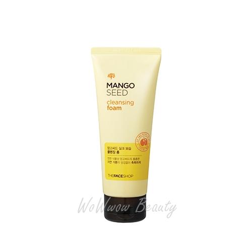 (Pre Order) The Face Shop Mango Seed Cleansing Foam โฟมล้างหน้าสูตรมะม่วง ช่วยผลัดเซลล์ผิว เผยผิวขาว
