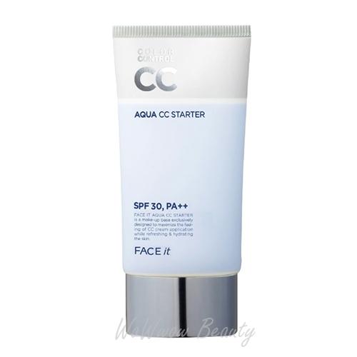 (Pre Order) The Face Shop Face It Aqua CC Starter ปรับสภาพผิวให้เรียบเนียน สุตรเพิ่มความชุ่มชื้น