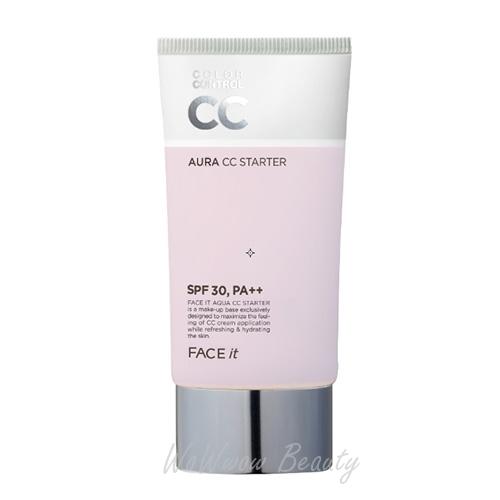 (Pre Order)The Face Shop Face It Aura CC Starter ปรับสภาพผิวให้เรียบเนียน สีผิวสม่ำเสมอ ให้ลุคฉ่ำๆ