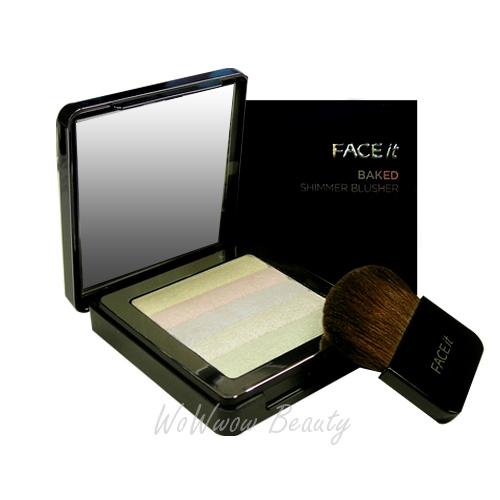 (เลิกผลิต)The Face Shop Face It Baked Shimmer Blusher no.4 บลัชออน ไฮไลท์ไล่โทนสี มีประกายชิมเมอร์