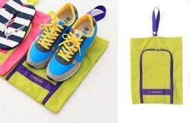(Sale พร้อมส่ง) กระเป๋าจัดระเบียบ Bag In Bag สีเขียว สำหรับใส่รองเท้า แยกได้เป็นสัดส่วน หยิบใช้สะดวก