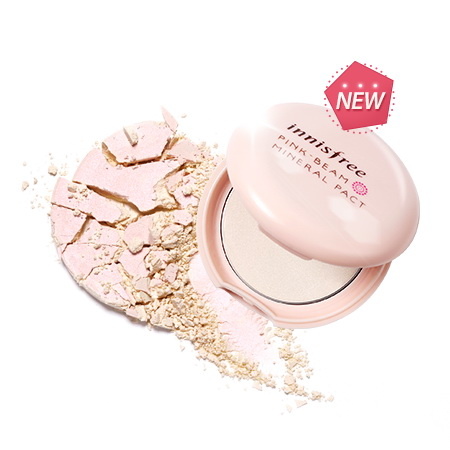 (Pre Order) Innisfree Pink Beam Mineral Pact แป้งพัฟผสมชิมเมอร์ เพิ่มประกายและความสว่างให้ผิวหน้า