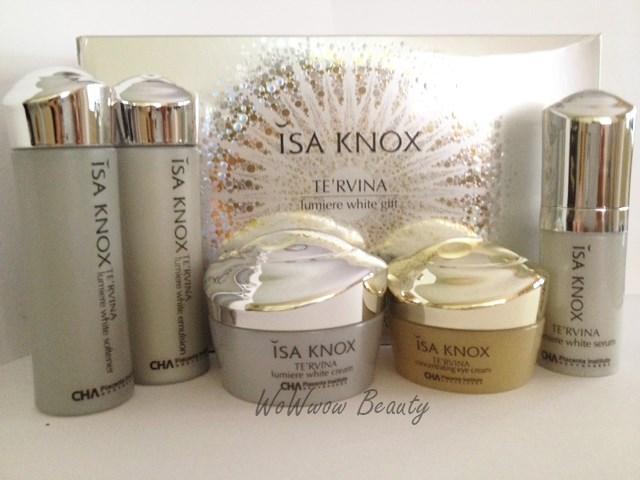 (หมดค่ะ) ISA KNOX TE\'RVINA Lumiere White Gift Set เซ็ททดลอง เพื่อผิวขาวใส ลดปัญหาฝ้า กระ จุดด่างด