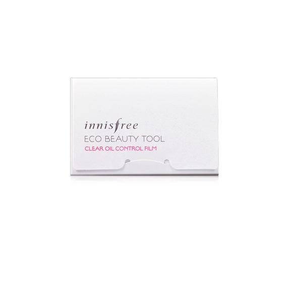 (พร้อมส่ง) Innisfree Eco Beauty Tool Clear Oil Control Film แผ่นฟิล์มซับมัน บรรจุ 50 แผ่น