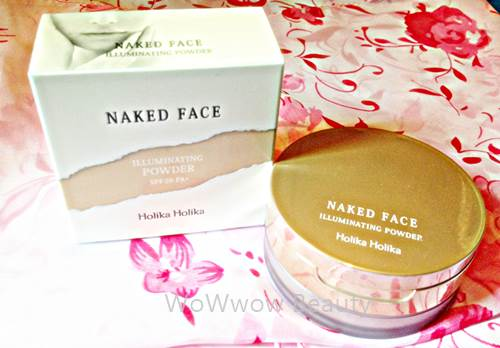 (Pre Order)Holika Holika Naked Face Illuminating Powder spf26แป้งฝุ่นผสมผงไข่มุกให้หน้าดูเปล่งประกาย