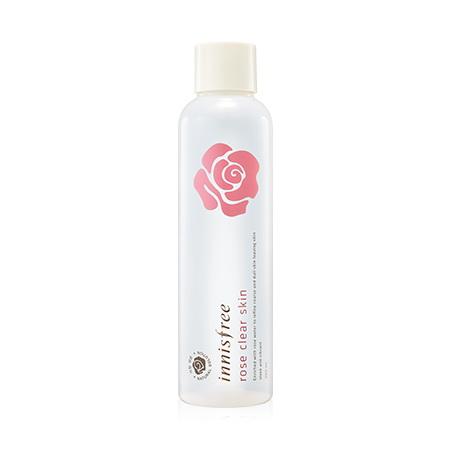 (เลิกผลิต)Innisfree Rose Clear Skin 250 ml.โทนเนอร์น้ำกุหลาบ บำรุงผิวให้ชุ่มชื้น ขจัดความหมองคล้ำ