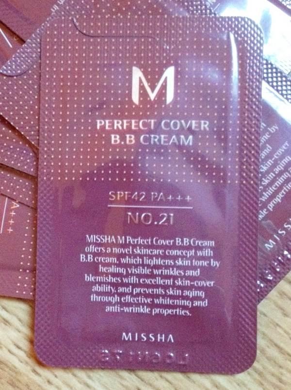 (หมดค่ะ) Tester Missha M Perfect Cover BB cream spf42 (เบอร์ 21) บีบีหลอดแดงสุดฮิต ปกปิดไม่มัน