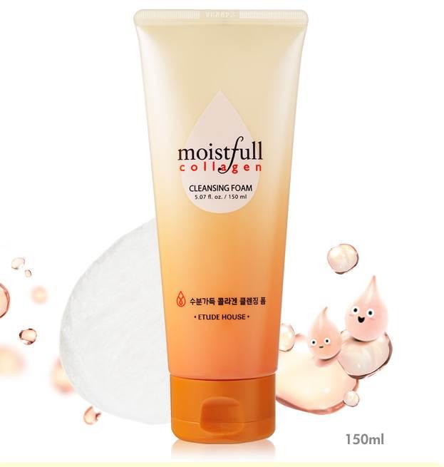 (Pre Order)Etude House Moistfull Collagen Cleansing Foam 150 ml. โฟมล้างหน้าคอลลาเจน ชุ่มชื้นไม่แห้ง