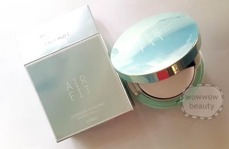 (หมดค่ะ) Apieu Air Fit Cushion Pposong spf 50 คูชั่นแป้งน้ำ หน้าเนียนใส คุมมันดีกว่าเดิม