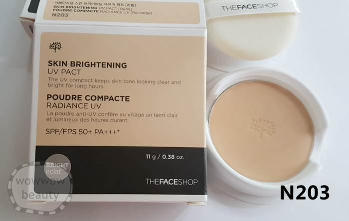 (Pre Order) The Face Shop Skin Brightening UV Pact (refill) รีฟิลแป้งพัฟไม่ผสมรองพื้น หน้าขาวใส
