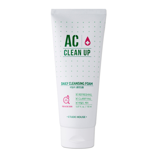 (Pre Order) Etude House AC Cleanup Daily Cleansing Foam 150ml. โฟมล้างหน้าผิวสำหรับผิวเป็นสิว ผิวมัน