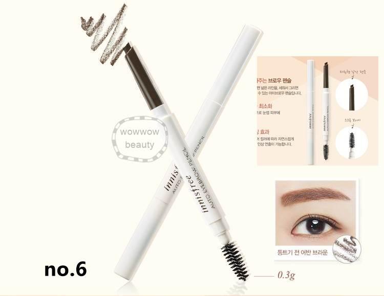 (Pre Order no.6) Innisfree Auto Eye Brow Pencil ที่เขียนคิ้วพร้อมแปรงปัด เขียนง่าย เป็นธรรมชาติ
