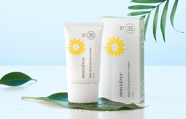 (Pre Order) Innisfree Daily UV Protection Cream Mild spf35/pa++ กันแดดสำหรับผิวแพ้ง่าย ใช้ได้ทุกวัน