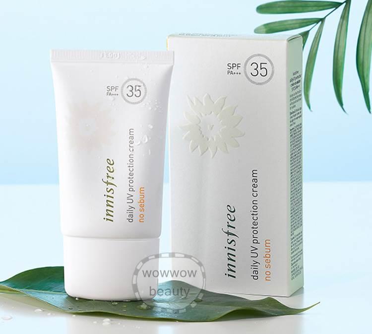 (Pre Order) Innisfree Daily UV Protection Cream No Sebum spf35 กันแดดสำหรับผิวมัน คุมมันไม่มันเยิ้ม