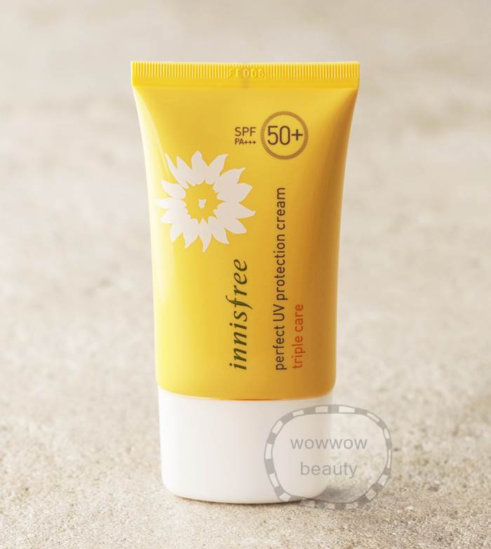 (Pre Order) Innisfree Perfect UV Protection Cream (triple care) spf50/PA+++ 50ml. ครีมกันแดด