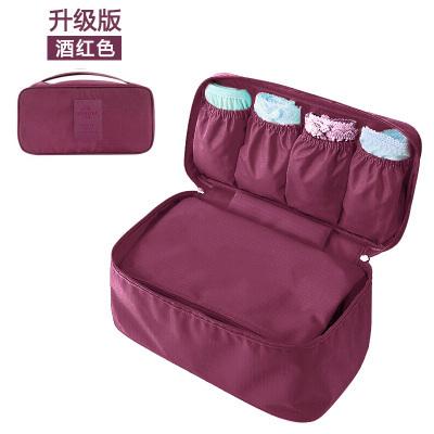 (พร้อมส่ง) กระเป๋าจัดระเบียบ Bag In Bag สีม่วงเข้ม สำหรับใส่ชุดชั้นในโดยเฉพาะ ไม่ทำให้เสียทรง