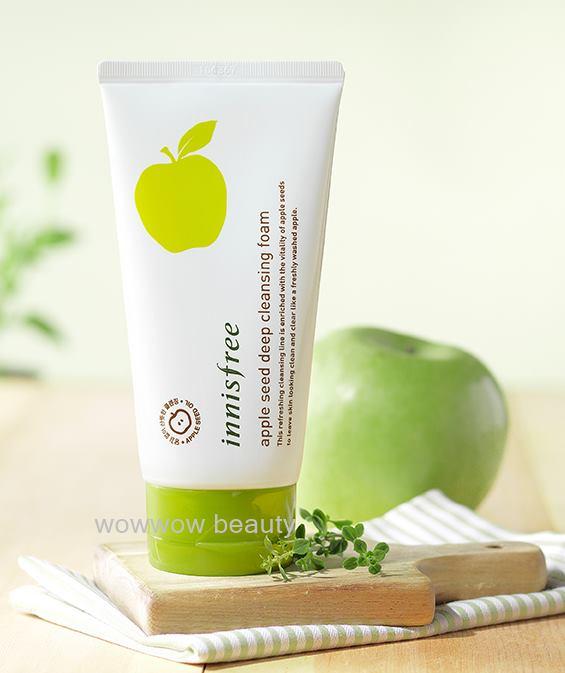 (Pre Order)Innisfree apple seed deep cleansing foam 150ml โฟมล้างหน้าแอปเปิ้ล ขจัดสิ่งสกปรกได้ล้ำลึ