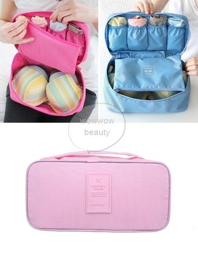 (พร้อมส่ง) กระเป๋าจัดระเบียบ Bag In Bag สีชมพูอ่อน สำหรับใส่ชุดชั้นในโดยเฉพาะ ไม่ทำให้เสียทรง