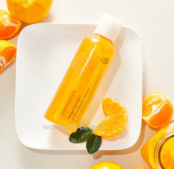 (Pre Order) Innisfree tangerine vita C oil-free liquid cleanser 150 ml. เจลล้างหน้าจากผลส้ม หน้าใส