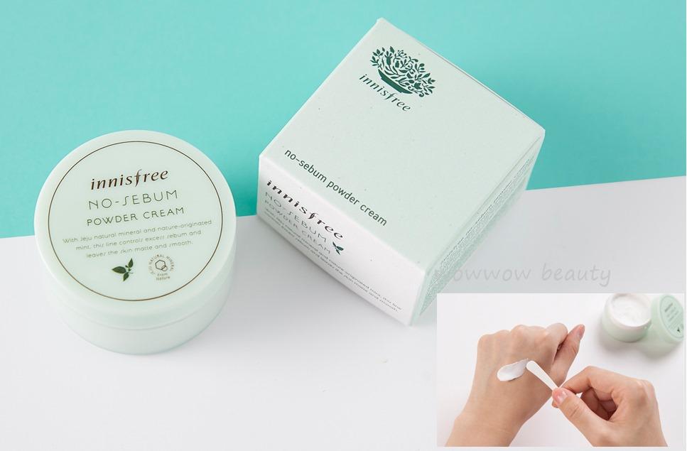 (Pre Orde) Innisfree No sebum Powder Cream 25g. ครีมบำรุงผิวหน้าช่วยคุมมัน ลดความมันไม่ก่อให้เกิดสิว