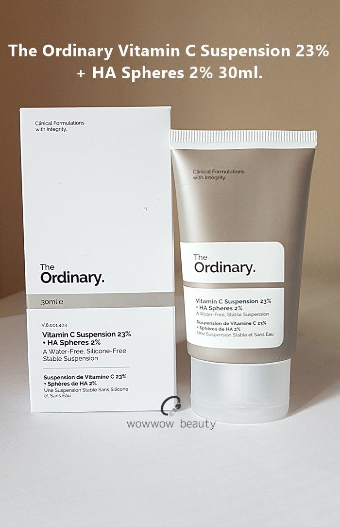 (หมดค่ะ) The Ordinary The Ordinary Vitamin C Suspension 23+ HA Spheres 30ml ซีรั่มวิตามินซีเข้มข้น