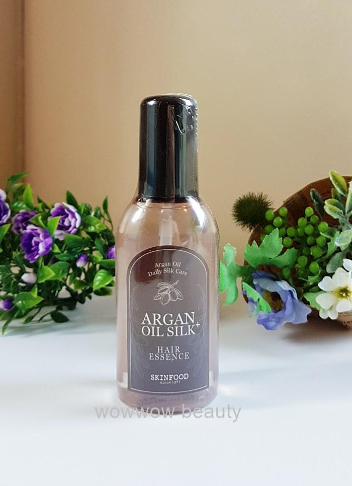 (หมดค่ะ) Skinfood Argan Oil Silk Plus Hair Essence บำรุงผมให้นุ่มสลวย เงางาม ลดปัญหาผมแห้ง ชี้ฟู