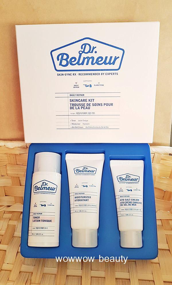 (หมดค่ะ) The Face Shop Dr.Belmeur Daily Repair Skincare Kit เซ็ททดลองสำหรับผิวเป็นสิว ผิวแพ้ง่าย