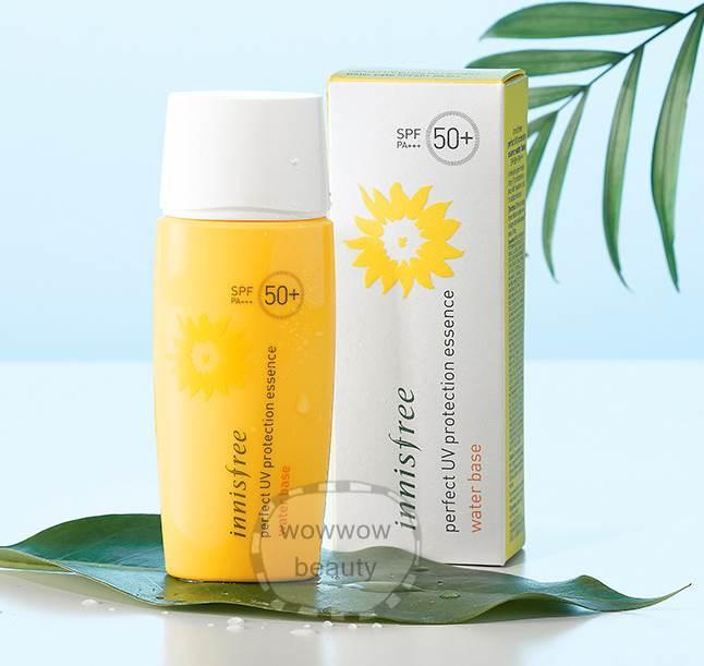 (Pre Order) Innisfree Perfect UV Protection Essence Water Base spf 50/Pa+++ 50 ml. กันแดดเนื้อน้ำน