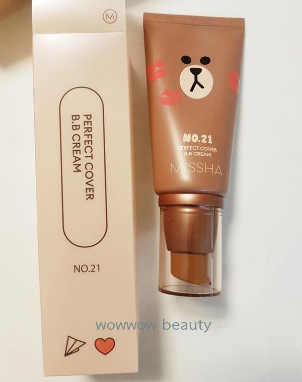 (พร้อมส่ง)Missha Perfect Cover BB cream spf42 50 ml (Line Friend) บีบีหลอดแดงสุดฮิต ปกปิด เนียน 1
