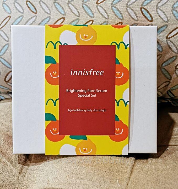 (ป้ายไทย/พร้อมส่ง) Innisfree Brightening Pore Serum Special Set เซ็ทบำรุงกระชับรูขุมขน ผิวกระจ่างใส