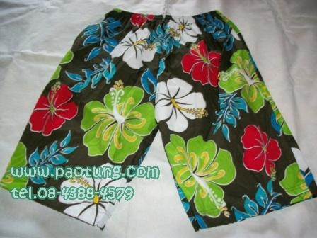 กางเกงขาสั้นลายดอก สไตล์เจเจ ขายถูก