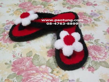 รองเท้าแตะหูคีบประดับดอกไม้สวยๆ