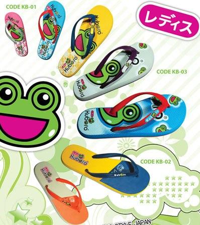 รองเท้าแตะฟองน้ำหูคีบสีkuboro