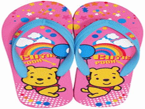 รองเท้าแตะฟองน้ำหูคีบ(ผู้ใหญ่)ลายหมีพูห์ขายถูก