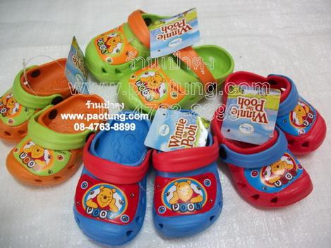 รองเท้าหัวโตเด็กลายการ์ตูนลิขสิทธิ์หมีพูห์ pooh ขายถูก