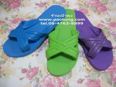 รองเท้าแตะฟองน้ำสีหวานแบบสวม 4 หู ขายถูก