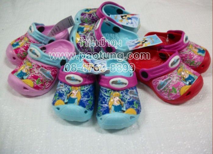 รองเท้าแฟชั่นหัวโตเด็ก ลายการ์ตูนลิขสิทธิ์เจ้าหญิงขายถูก