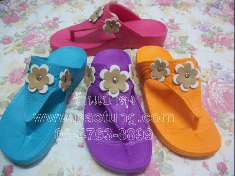รองเท้าสไตล์ fitflopดอกไม้3 ดอก ขายส่ง(KR8585)